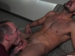 Submissive daddy vidz begging for  super cum to swallow