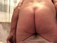 Playing in vidz panties
