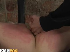 Restrained young vidz homo ass  super fucked hard by hung master