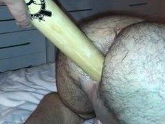 Baseball bat vidz on my  super ass