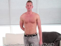 GayCastings Grayson vidz Frost fuck  super and facial with casting agent