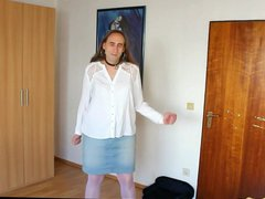 Stripdance to vidz white lingerie