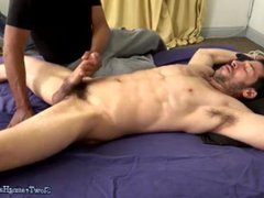 Muscle Hunk vidz Edged on  super Bed