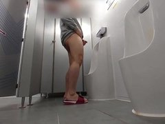 ASIAN GUY vidz JERK OFF  super IN ANOTHER PUBLIC TOILET