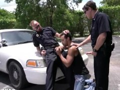 Criminal Perp vidz Gets It  super Hard By Two Horny Cops Looking to Fuck Hard