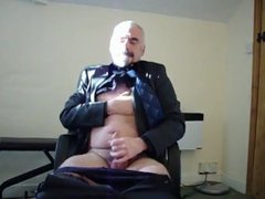 Suit daddy vidz bear jerking  super his cock
