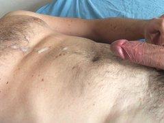 Wank and vidz CUMSHOT in  super bed