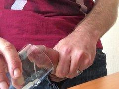 Cum in vidz drinking glass