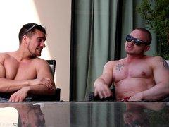 Straight Muscle vidz Jock Friends  super Suck & Rough Fuck After Tanning