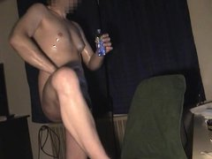 Oiling up vidz 01 Horny  super with a lot of oil -Old SD vid no audio-