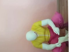 Rubberguy in vidz colorful rubber  super clothes dresses more rubber