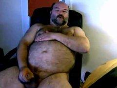 chubby hairy vidz bear jerking  super his cock