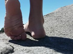 SHOWING OFF vidz MY FEET  super AND TOES AT THE BEACH