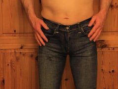 tight jeans vidz rubbing my  super cock