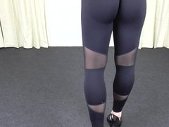 Skin tight vidz black leggings  super and heals on Transexual
