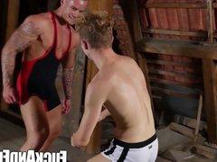 Wrestling homos vidz sharing some  super cocks after sweaty training