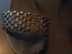 Huge cumshot vidz while fucking  super black wedge sandals