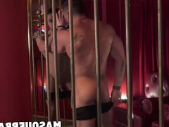 Homo beauty vidz Zack Lemec  super shows off hunk body in striptease