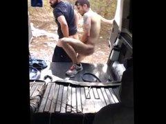 Cruising Hottie vidz Fuck Hot  super Arab Raw in Van Hidden Cam