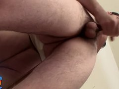 Gay dude vidz loves stroking  super his cock in front of the mirror