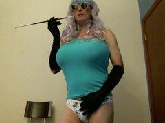 Virginia in vidz panties with  super holder
