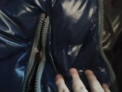 Ultra Shiny vidz Duvetica Jacket  super Induces Cumshot