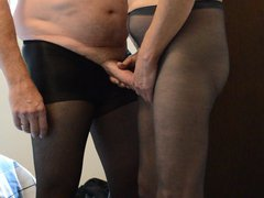 Hot New vidz Cock Play  super in Pantyhose