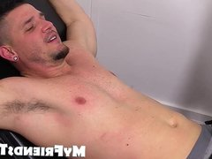 Homosexual jocks vidz gets tickled  super and tormented by two deviants