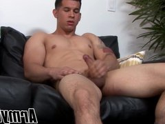 Good looking vidz army dude  super strips and plays with his hard dick