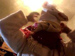 gagged mouth, vidz furbondage, woolbondage,animal  super mask,furfetish,