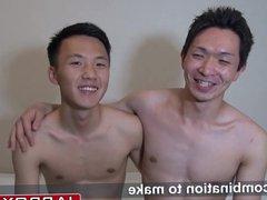 Cock sucking vidz Japanese twinks  super making out and having fun