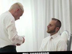 MormonBoyz - vidz Horny twink  super missionary jerked off by priest daddy