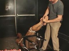 Young deviant vidz ties up  super gay man for oiled up rough tickles