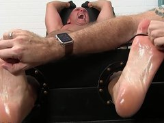 Hunk barely vidz endured while  super being tickled and tied up good