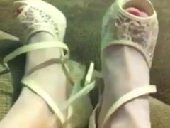 Tiffany Tranny vidz Wife in  super Stockings