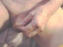 Playing with vidz foreskin