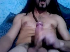 Sexy Str8 vidz Guy with  super Dreadlocks, Bigcock & Balls cums #200
