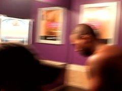 Ebony amateur vidz spitroasted after  super dancing