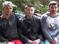 Bareback Threesome vidz with DP