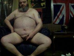Fat Daddy vidz Cums on  super his foot