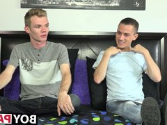 Huge dicked vidz twink Payton  super Connor stokes after an interview