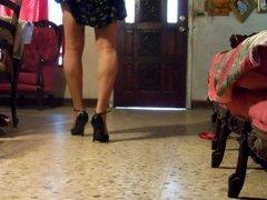 black dress vidz and old  super black shoes
