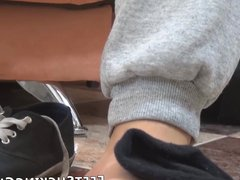 Flexible young vidz gay sucks  super his toes before jerking off solo