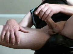 Jerking my vidz cock, thinking  super about you