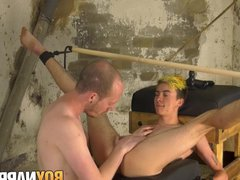 Female to vidz male Olly  super Jackson restrained and analled roughly