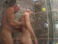 Big Butt vidz and Big  super Cock Daddy fuck his Boy under Shower