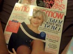 Cumming on vidz Woman and  super Home Magazine ( Helen Mirren )