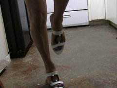 feeling the vidz pleasure of  super my high heels