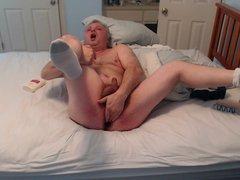 masturbate and vidz ass play  super in white socks