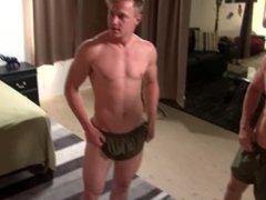 ActiveDuty Cute vidz & Straight  super Military Boys Have Raw Anal Sex